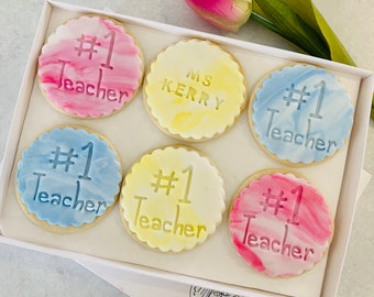 Thank You Teacher Customised Personalised Biscuit Gift Box End of term gift Personalised Teacher Gift Isolation gift No1 Teacher