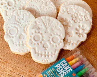 Day Of The Dead Colouring In Halloween Biscuit Set