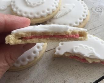 A Dozen Gender Reveal Baby Shower Biscuits Cookies