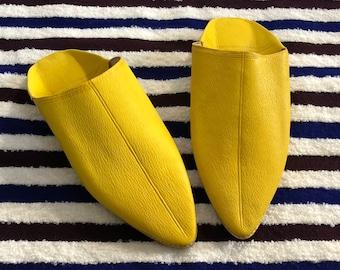 YellowBabouche - the moroccan yellow leather babouche