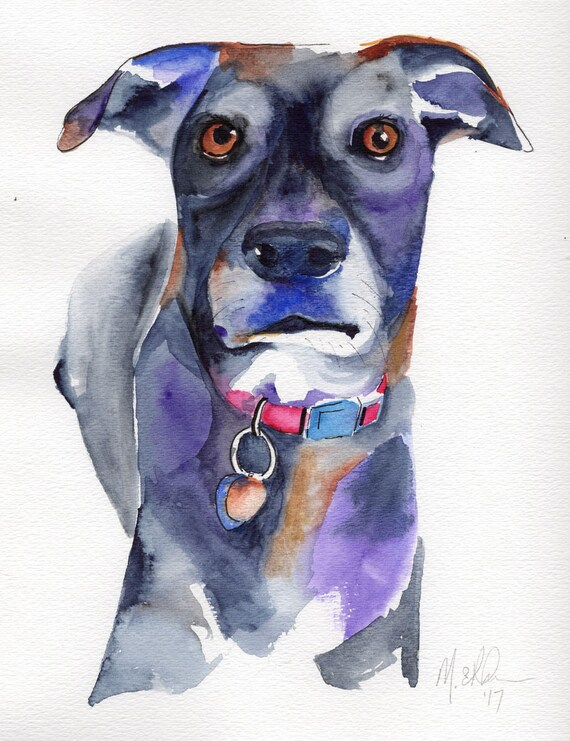 Exaggerated Art Drawing Of Dog
