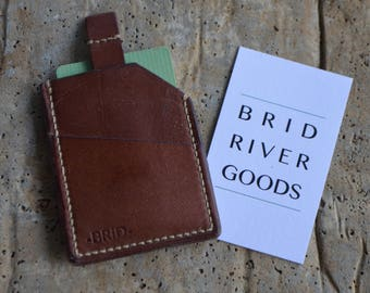 Tan Leather Card Wallet