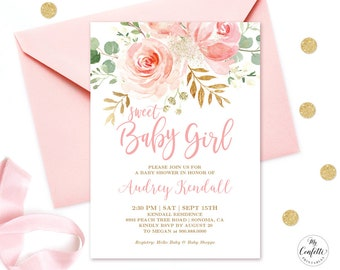 Baby shower invitation etsy editable invitation blush pink floral baby shower invitation printable baby shower invitation template sweet baby girl mcp820 filmwisefo