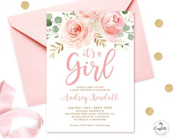 Girl baby shower invitations  3a81331fc5