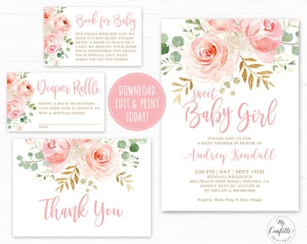 Printable baby shower invitation | Etsy