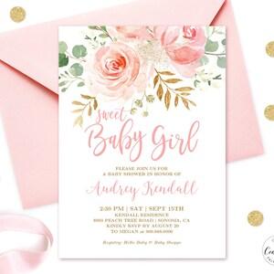 Printable baby shower invitation etsy editable invitation blush pink floral baby shower invitation printable baby shower invitation template sweet baby girl mcp820 filmwisefo