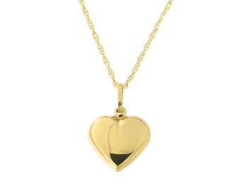 5c1da3895596e Gold heart pendant | Etsy