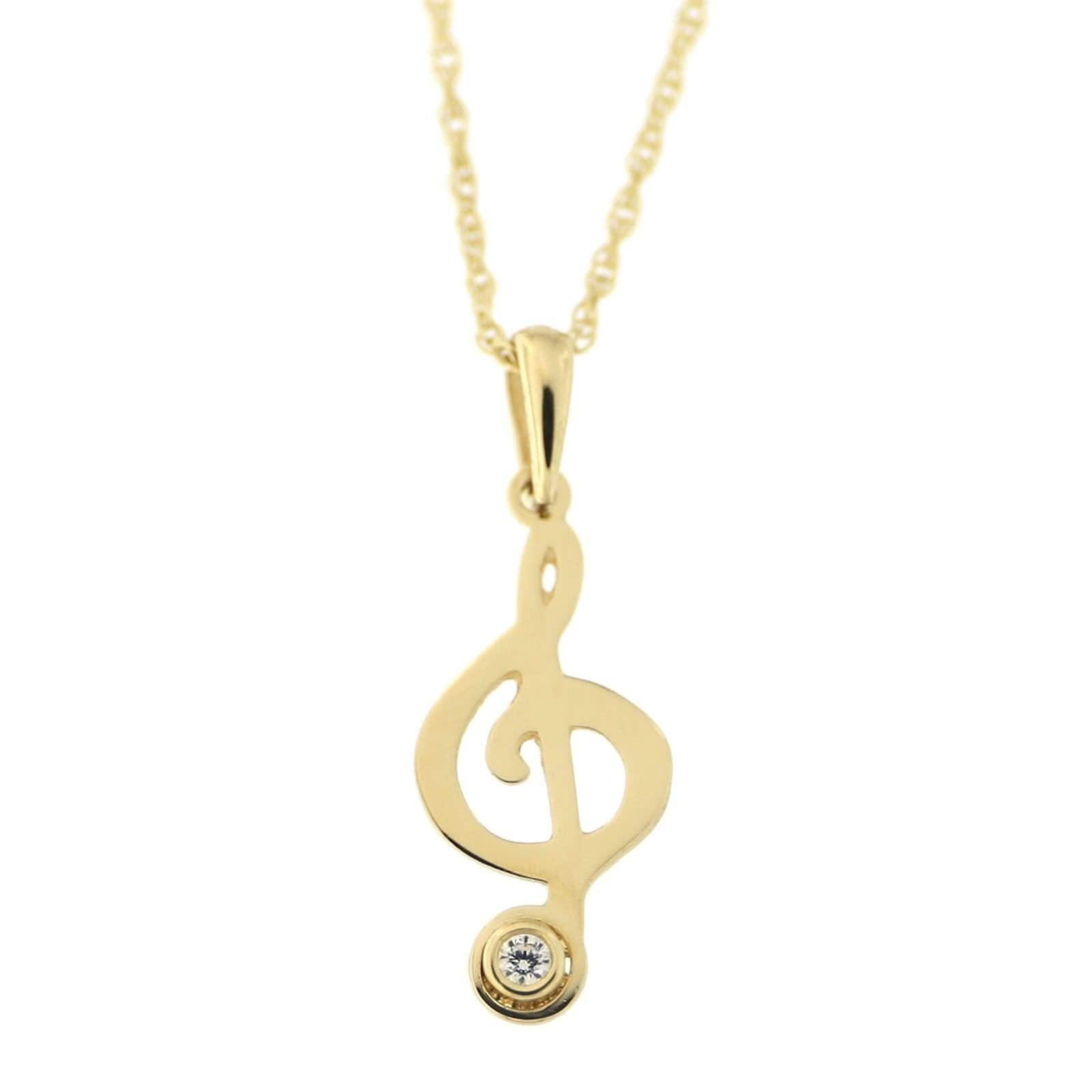 Cubic Zirconia Heart Pendant 14K Yellow Gold Over Sterling Silver $167.95