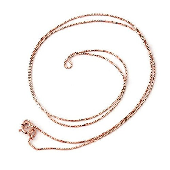 Pure 10K Solid Gold Box Necklace with Bead Real Gold Beaded Box Chain