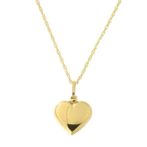 Beauniq 14k White Gold .01ct Diamond Heart Pendant Necklace