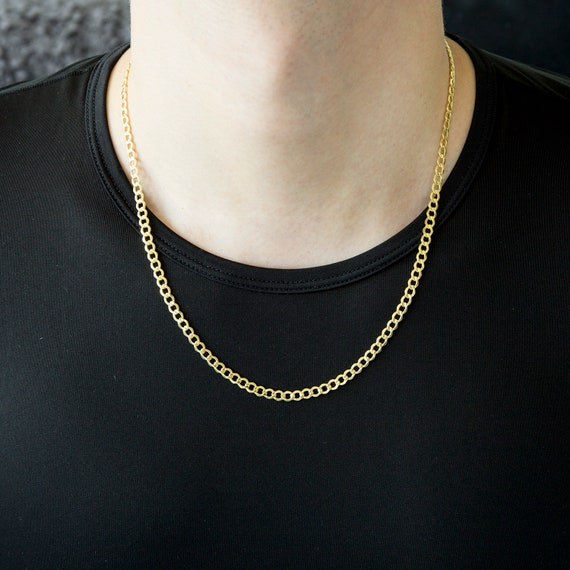 14kt White Gold Curb Chain Necklace 0.90mm