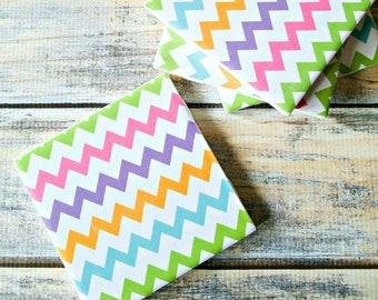 Rainbow Coasters – Ceramic Tile Coasters – Rainbow Home Decor – Drink Coasters – Easter Coasters – Wine Accessories – Table Coasters