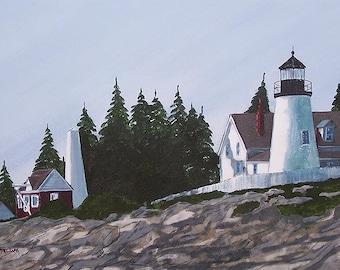 "Pemaquid Point Lighthouse ""Summertime"""