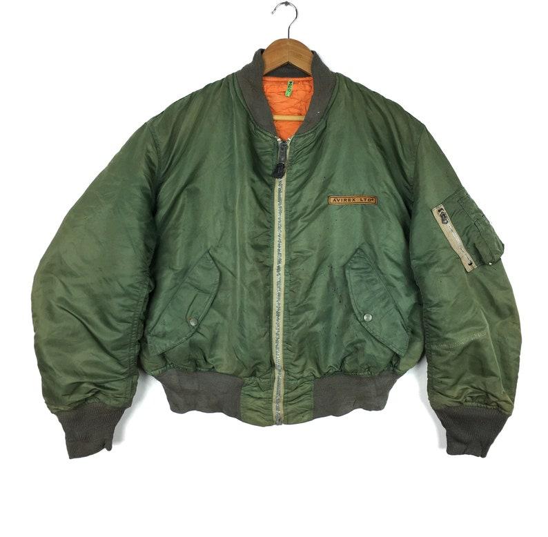 Vintage AVIREX USA Bomber Jacket Type L-2B US Air Force Big Logo Military Style Vintage Mens Clothing
