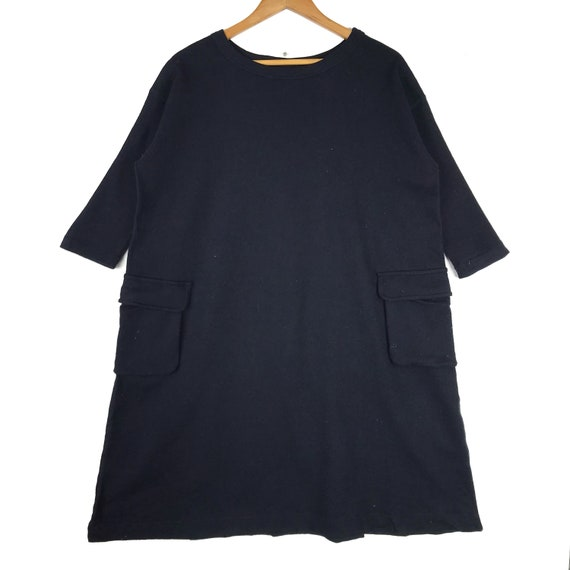 45RPM Wool Dress Workwear Style Japanese Brand Cas
