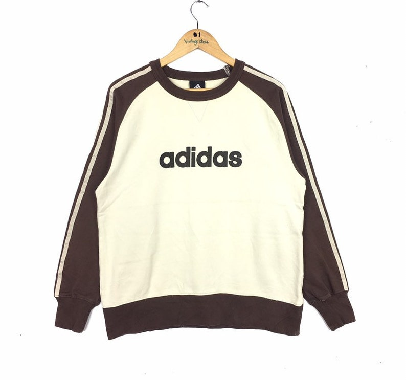 ADIDAS EQUIPMENT Spellout Color Block Sweatshirt Medium Size 90s Hiphop Swag Casual Trefoil Sportswear Gift Vintage Streetwear