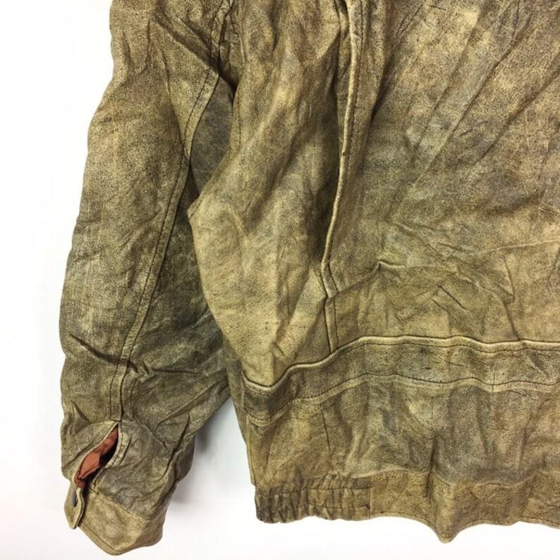 Vintage CHASER Leather Jacket Motosports Jacket Style Rock Vintage Mens Clothing
