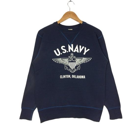 Rare BUZZ Streetwear Navy Size Company Military S Colour Medium U Sportswear Army RICKSON Sweatshirt wear Vintage Gift Hiphop Swag qrOgq5