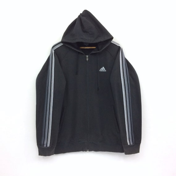 Rare!! ADIDAS EQUIPMENT Stripes Spellout Black Hoodies Large Size 90s Hiphop Swag Casual Trefoil Sportswear Gift Vintage Streetwear