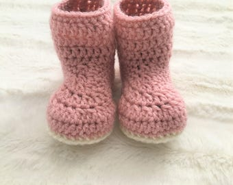 PDF PATTERN* Simple Baby Booties Crochet PDF Pattern - 6-12 Month Size Booties -Beginner Pattern - Double Lined Baby Booties - Baby Crochet