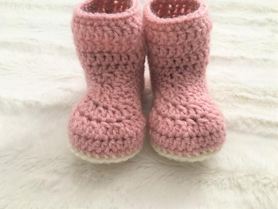 Pdf Pattern Simple Baby Booties Crochet Pdf Pattern 6 12 Etsy