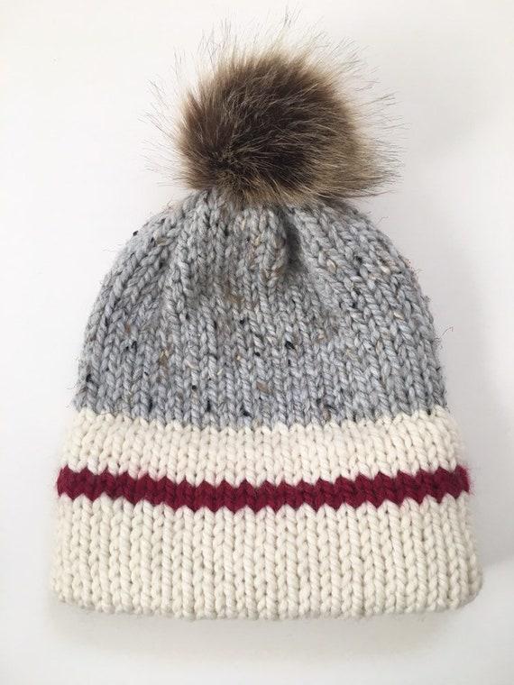 Sock Monkey Hat Womens Double Brim Beanie True North Toque  ed94d6024590