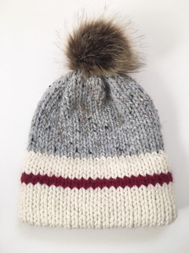 f80a1ac9e33 Sock Monkey Hat Womens Double Brim Beanie True North Toque