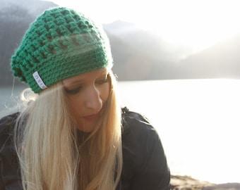 0cebb3c1360 Green Slouchy Beanie   Kelley Green Beanie   Green Slouchy Beanie   Women s  Hat   Green Slouchy Hat   SISU   Green