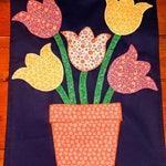 Spring tulips garden flag 1