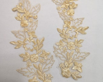 Floral lace applique blossom v