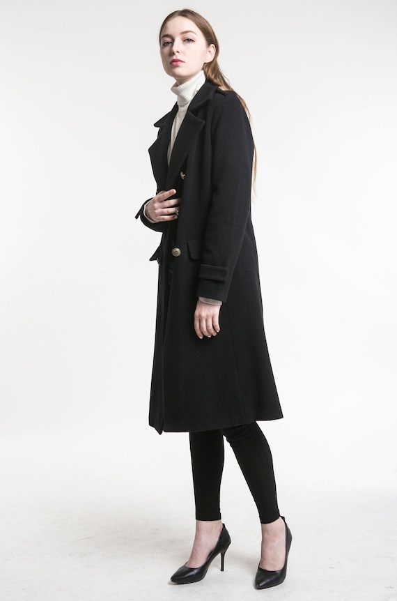 Mantel MantelWintermanteldoppelt Mantelwarmen WintermantelWollmantellangen Zweireiher Schwarzer Mantelschwarzen Mantel WolleDamen aus e2bH9YDIWE