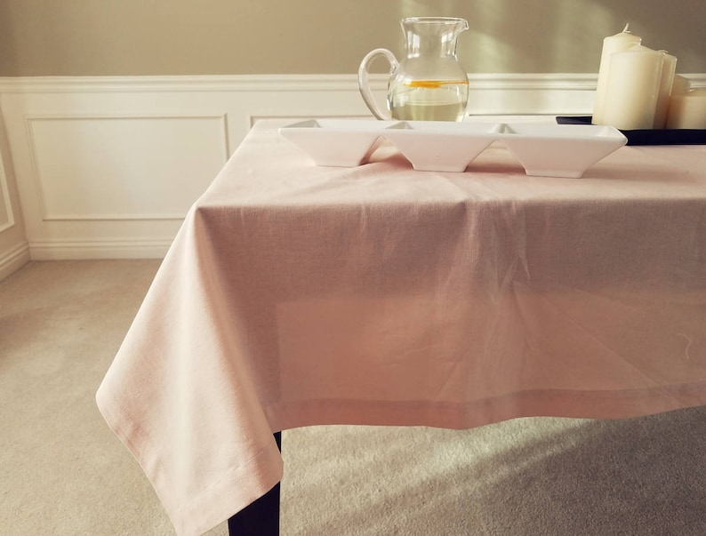 Dining Table top Linen table cover Rustic Linen Washed /& Softened Square tablecloth Kitchen Light Peach Linen Tablecloth Country