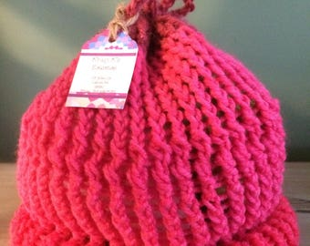 One of a Kind Hand Knitted Beanie Hat