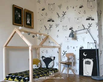 kids wallpaper etsy rh etsy com