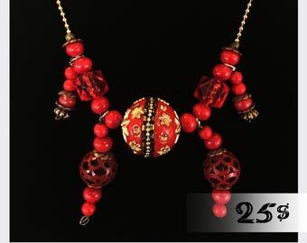 Red Lantern Necklace