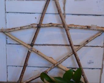 Repurposed- birch branch star