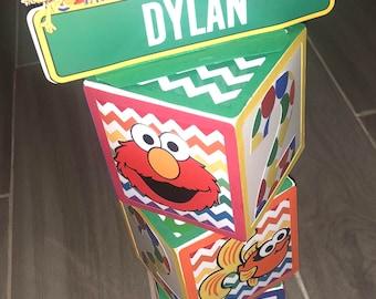 Sesame Street Name Blocks
