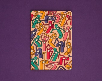 Wobbly Men Cahier Notebook - Multi Coloured