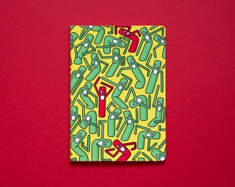 Wobbly Men Cahier Notebook - Green