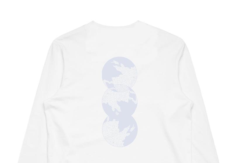 47cda1d8f Three moon long sleeve white t-shirt   Etsy