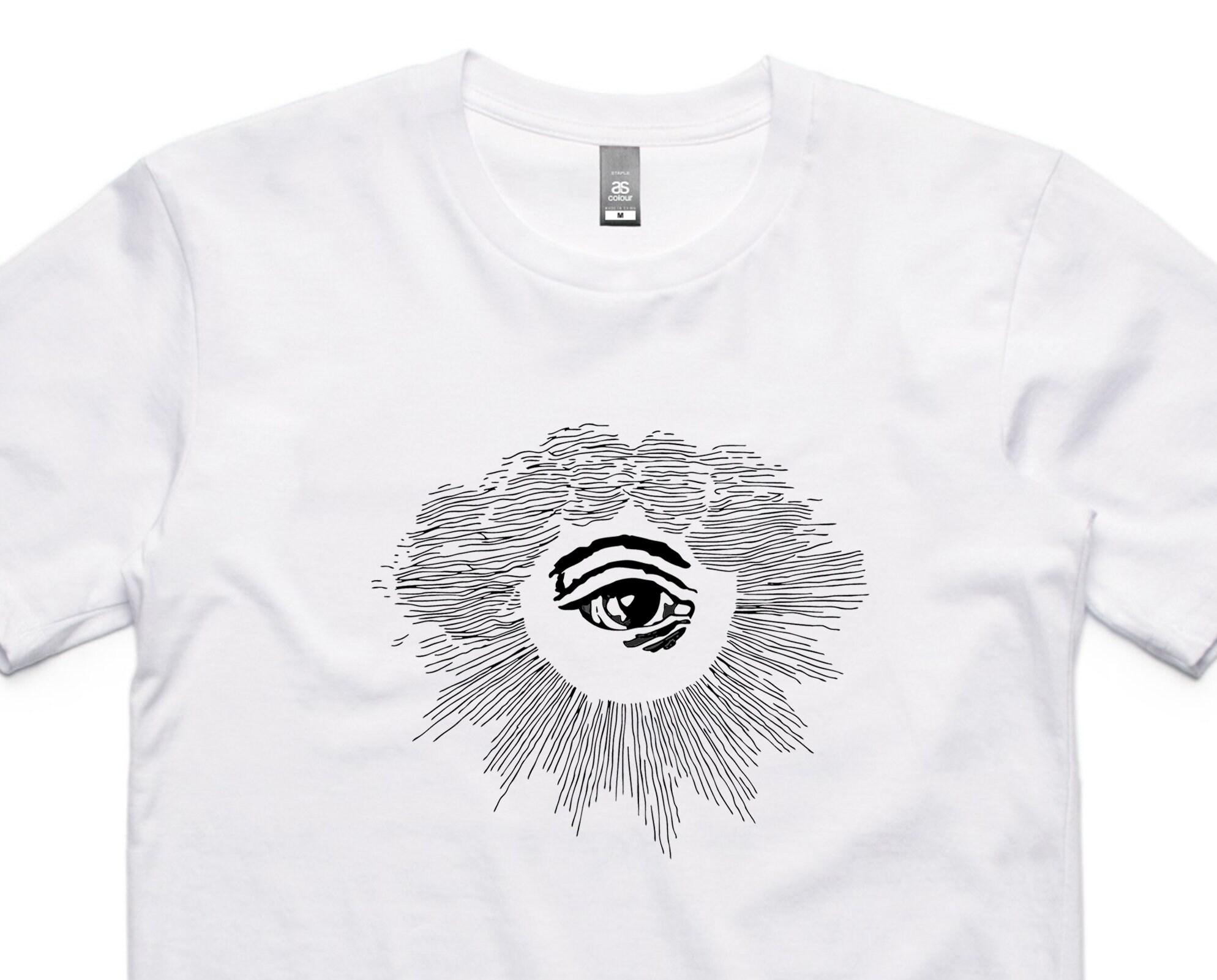 Oeil au beurre blanc noir sur t-shirt blanc beurre 8ff400 ... 5167cbdc2ea