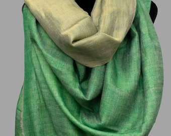 f8e9ebe4f Dual Shade (Reversible) Metallic Pure Pashmina Cashmere Zari Scarf Wrap,  Hand Woven
