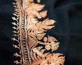 Chinar Tilla Embroidered Fine Wool Shawl Wrap, Directly from Artisans Of Kashmir.