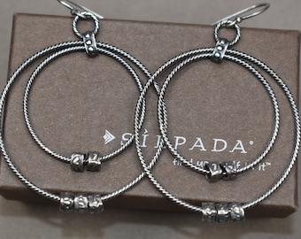 Retired Silpada Dangling circle Earrings