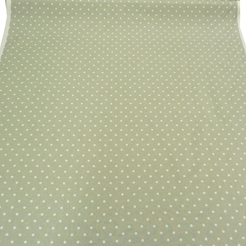 Cotton fabric full stop grey with white dots curtain fabric furnishing fabric