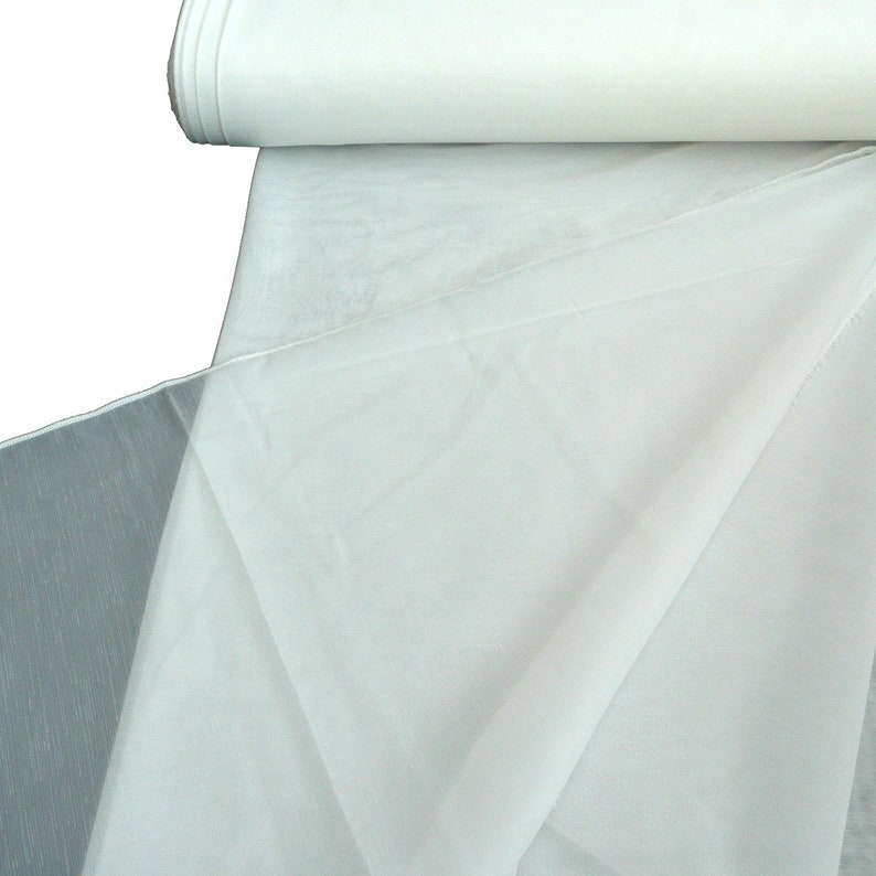 Curtain Fabric stores striped optics cream with lead band 260 cm high