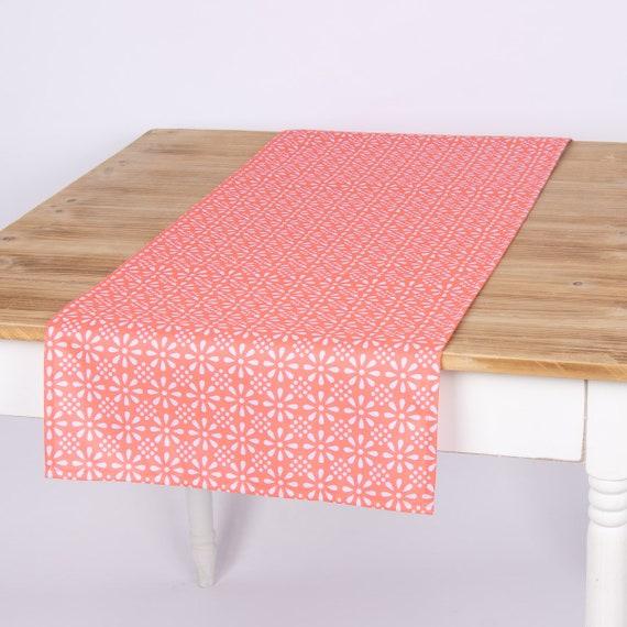 Outdoor Tischläufer mint Daisy Flower 40 x 142 cm