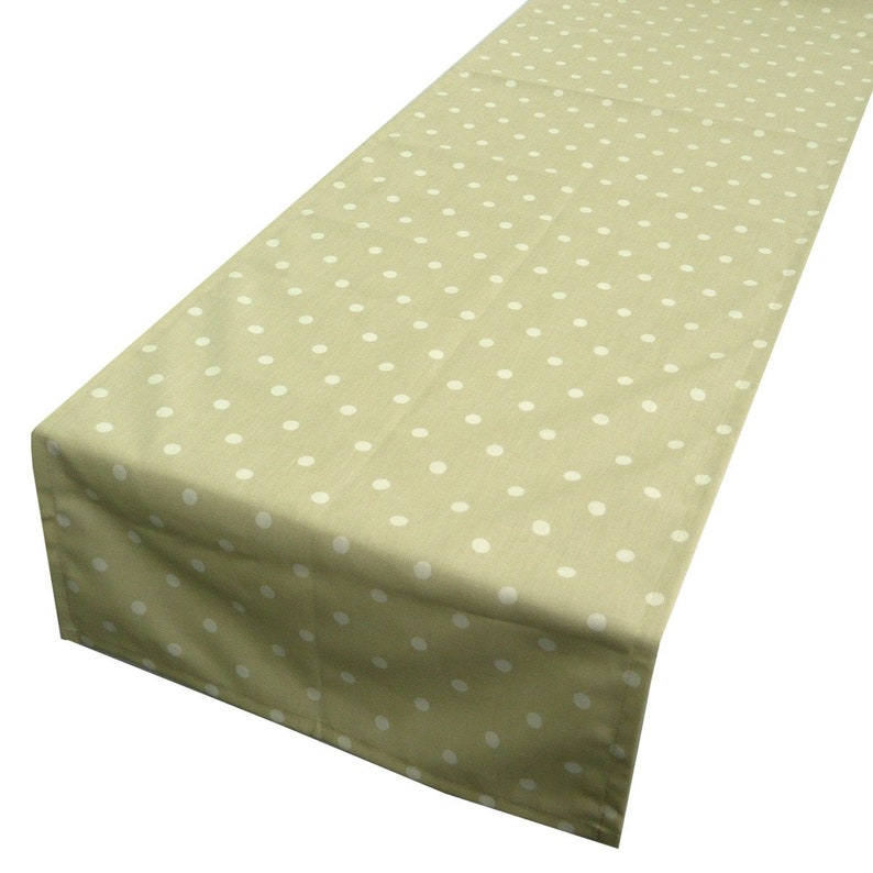 Beautiful live table Runner beige white dots 40 x 160 cm