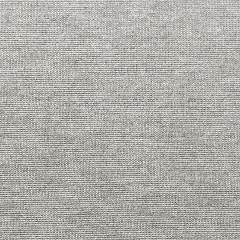 Jersey Punta di Roma plain grey mottled 1.4 m wide