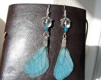 Earrings ~ ~ silver ~ ~ fairy wings